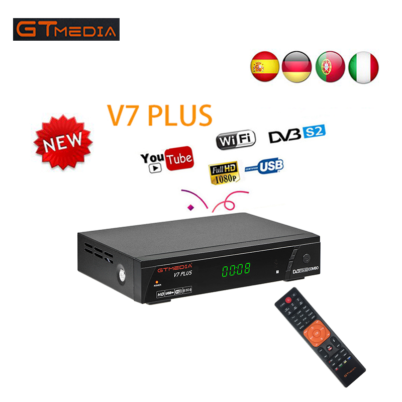 GTMEDIA V7 PlUS Satellite Receiver Full HD 1080P DVB-S/S2+T/T2 Support H.265 4-digit LED display Support PowerVu DRE & Biss key 100 pcs ld 3361ag 3 digit 0 36 green 7 segment led display common cathode