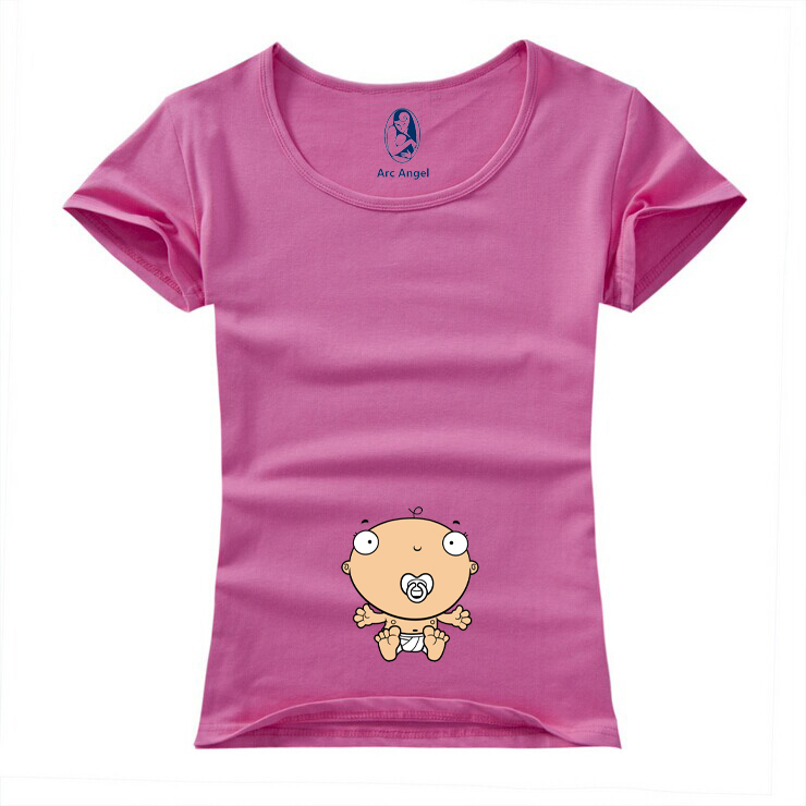 """""""Baby Nipple Sucking"""" Printed Funny Cuty Short Sleeve Maternity Shirt Plus Size XXL 10 Colors"""