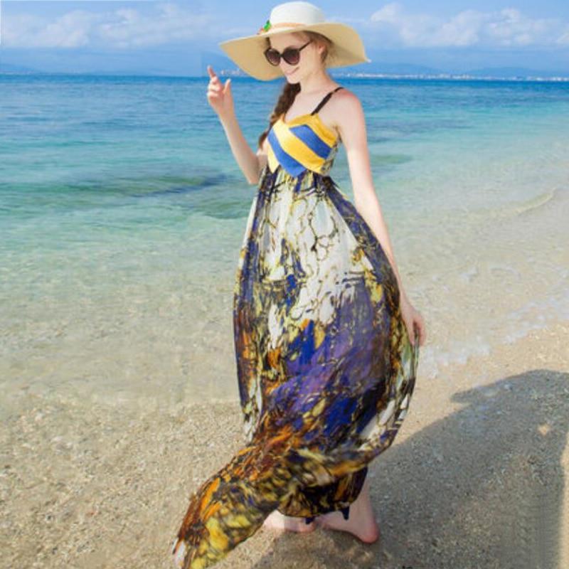 D'été Gratuite Bleu Vente Soie Robe 100 Chaude Col En Robes Jaune 100 V Livraison Femmes Plage Naturelle Vacances 7wqagFZ0