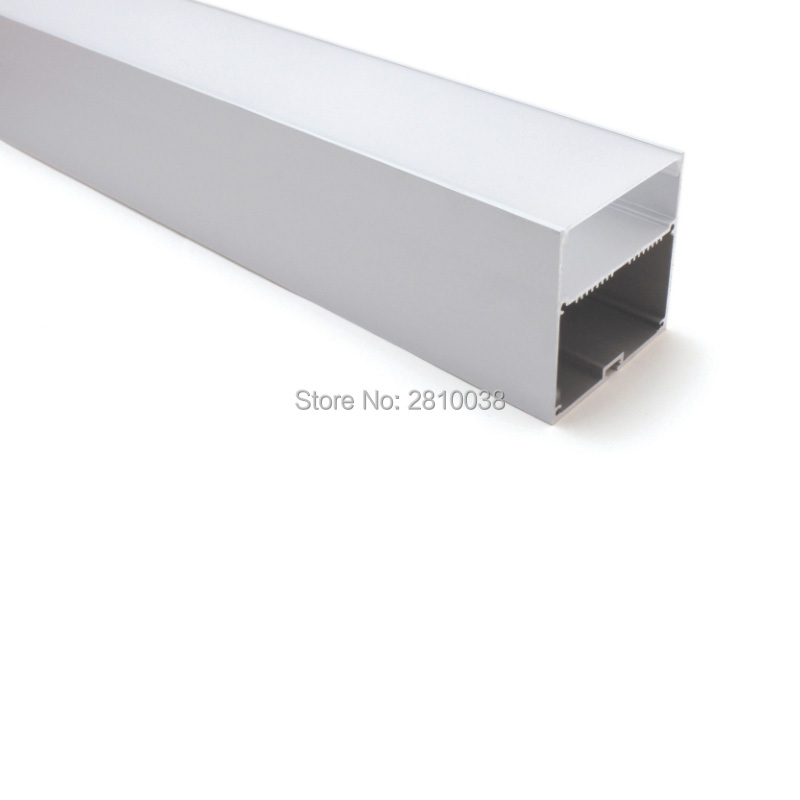 10 X 2M Sets/Lot U shape aluminum profile led bar Big size square type aluminium led channel with power place for hanging lamp