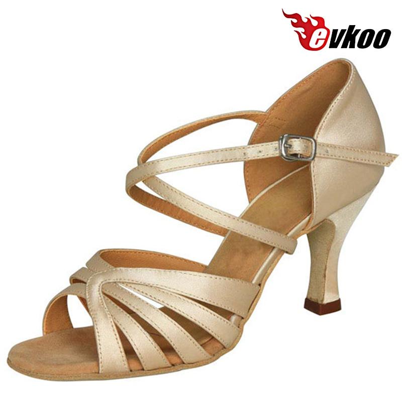 Evkoodance Khaki Satin Woman Dance Shoes 7cm Heel Height Shoes Salsa Latin  Leather Sole Free Shipping Shoes Evkoo-199 рюкзак век егерь 1522618 khaki