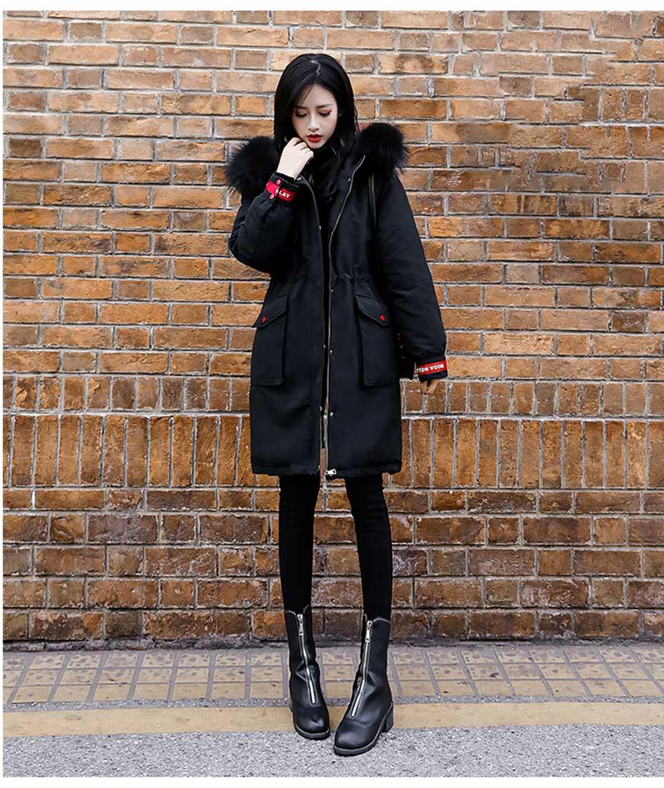 Langer Großhandel Puffer Ski Lange Übergröße Parka Dicke Jacke Samt 4xl Kapuze Koreanische Winter Damen Schnee Warme Frauen Mantel Schwarze CsQrthdx