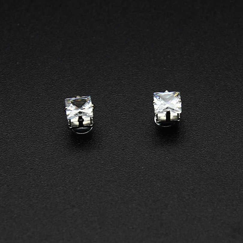 12ddb4dfb ZLDYOU Fashion Personality Women Big Square Zircon Zinc Alloy Magnetic  Earrings Magnet Magic Crystal Stud Earrings