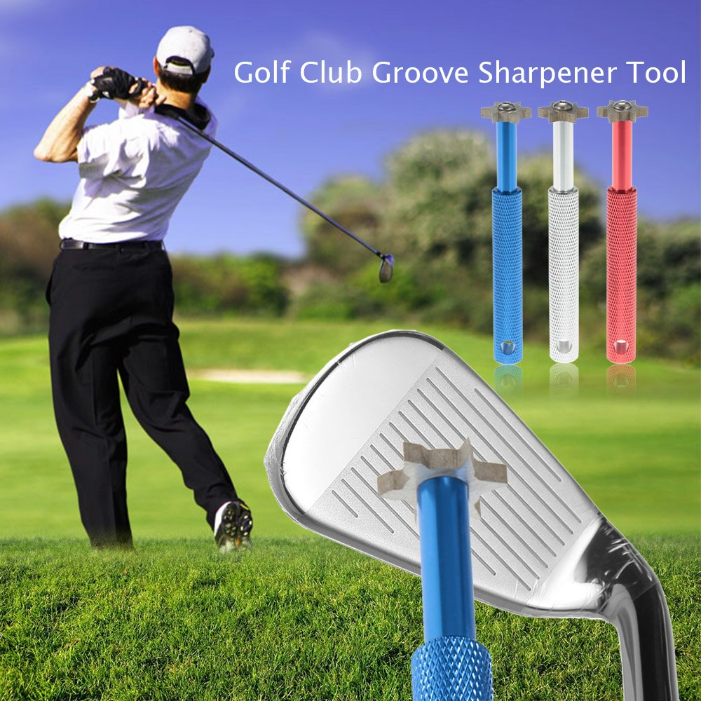 V U Blade Cutters Head Golf Club Sharpener Groove Wedge Cleaner Regrooving Tool Cleaning Tool Golf Accessories Iron Grooves-in Golf Training Aids from Sports & Entertainment