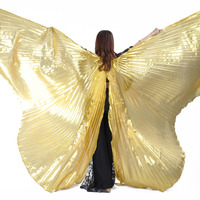 Gold Egypt Oriental Belly Dance Butterfly Isis Wings Costume For Women Bellydance Indian Dancing Accessories Dancer