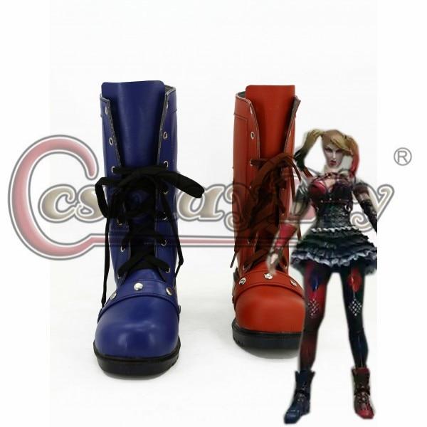 Batman Arkham caballero Harley Quinn Cosplay botas zapatos para baile de disfraces de Batman por encargo D0225