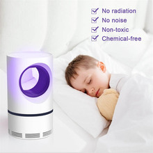 USB Mosquito Killer Lamp LED Zapper Indoor Silent Anti Mosquito Trap Electric Silent Non-radiation for Child silent master 20см green led
