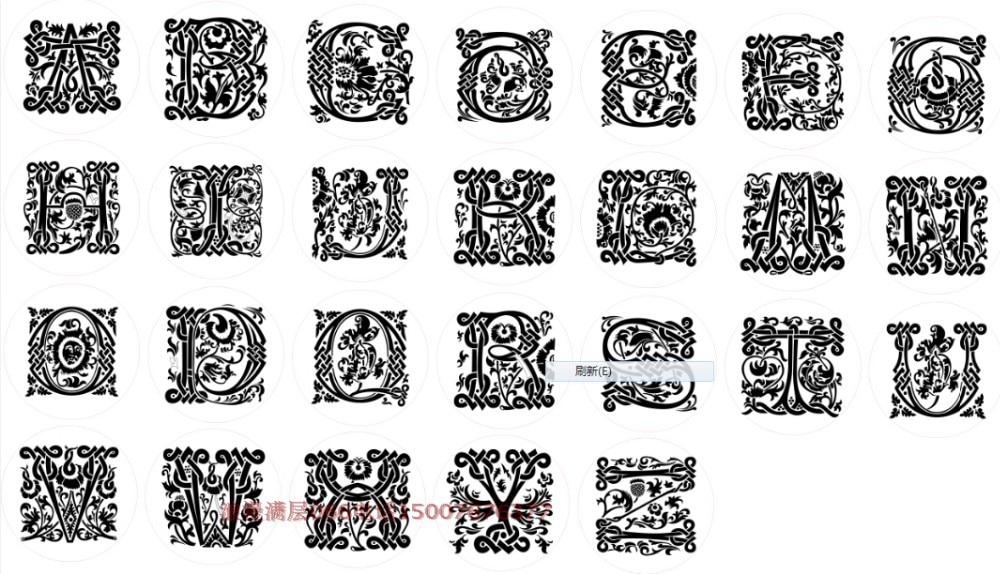 Wax Seal Copper head Curlicue Cable 26 Letters DIY Scrapbooking Vintage wax sealing stamp wedding invitation/envelop gift seal