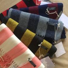 AC Studios Brand Scarf Women Men Unisex New Winter Female Male Cotton Wool Cashmere Women's Men Scarf Pashmina Tassels Wrap Warm