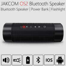 JAKCOM OS2 Portable wireless bluetooth speaker outdoor waterproof bicycle speaker with powerbank flashlight support TF AUX