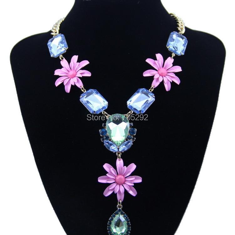 X5 x10 Cristal mixto y flores abalorios europeos fabricación de joyas al por mayor