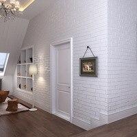 3D three dimensional brick wallpaper TV background blue brick white brick shop living room dining room bedroom wallpaper