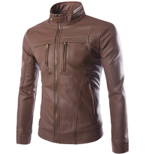 Мужская куртка из искусственной кожи, пальто, мотоциклетная кожаная куртка, Мужская Осенняя весенняя одежда из искусственной кожи, мужская повседневная одежда, большие размеры 4XL