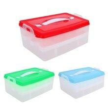 Egg Food Container Storage Box 24 grid Bilayer Basket Organizer