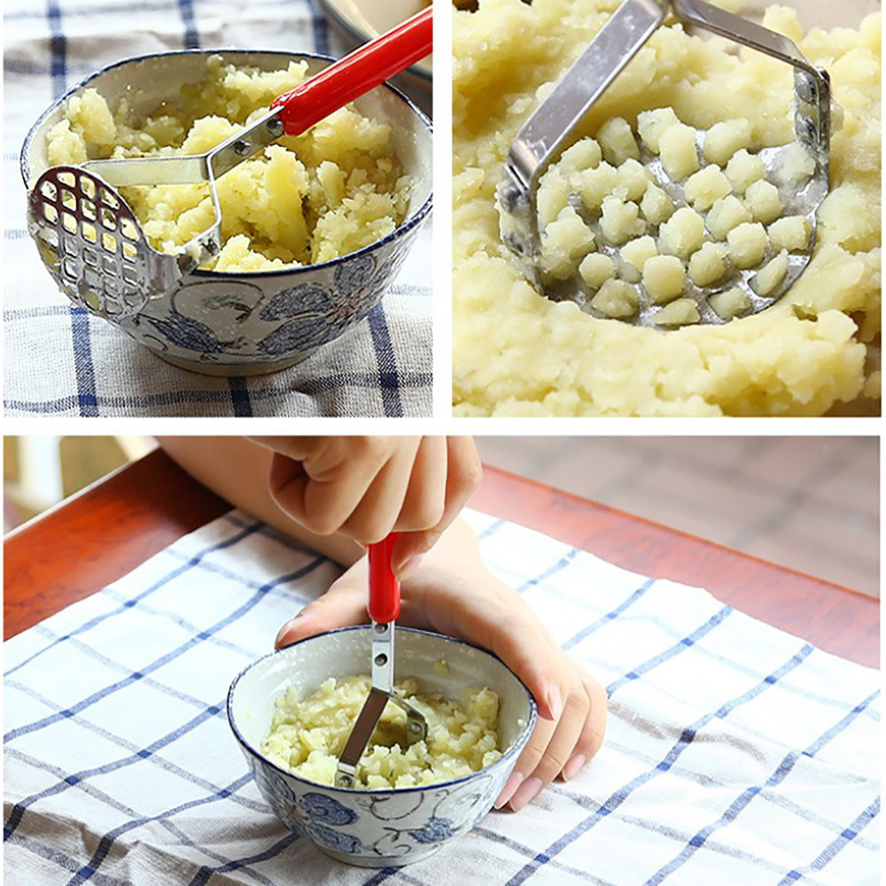 2018 New Fashion Stainless Steel Potato Mashers Ricers Garlic Mud Pressure Puree Tool With hIgh Quality Hot Sale For Kicthen#35