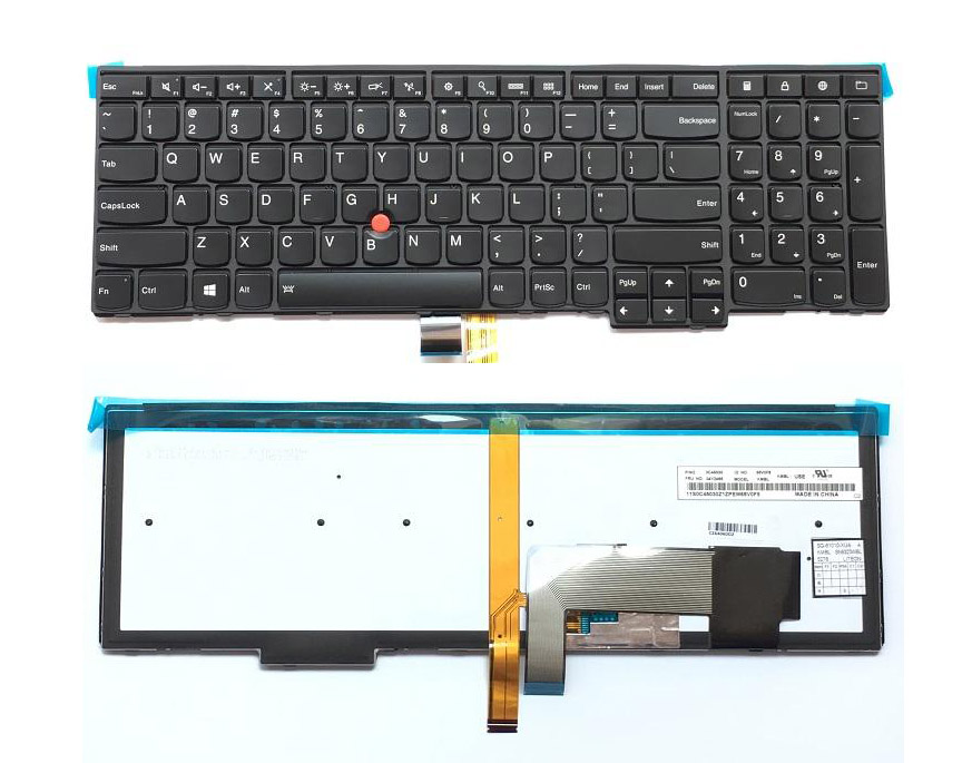 New Original Lenovo ThinkPad T540P W540 W541 T550 T560 W550S P50S US Keyboard Backlit Backlight English 04Y2387 04Y2465