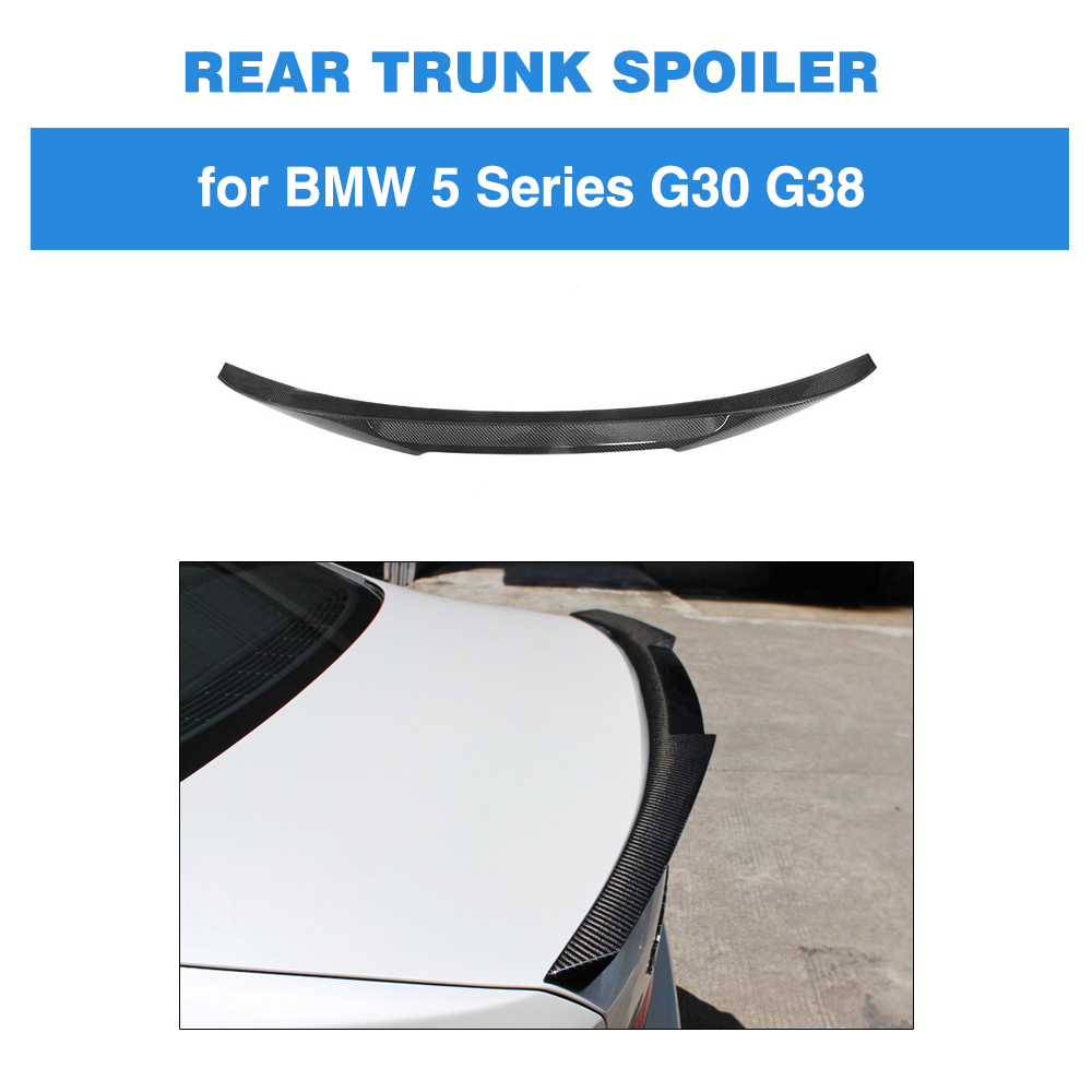 For BMW G30 5 SERIES 530i 540i M Sport M5 2017 - 19 Carbon Fiber M4 Type Rear Trunk Boot Lip Spoiler Car Rear Trunk Lip SpoilerFor BMW G30 5 SERIES 530i 540i M Sport M5 2017 - 19 Carbon Fiber M4 Type Rear Trunk Boot Lip Spoiler Car Rear Trunk Lip Spoiler