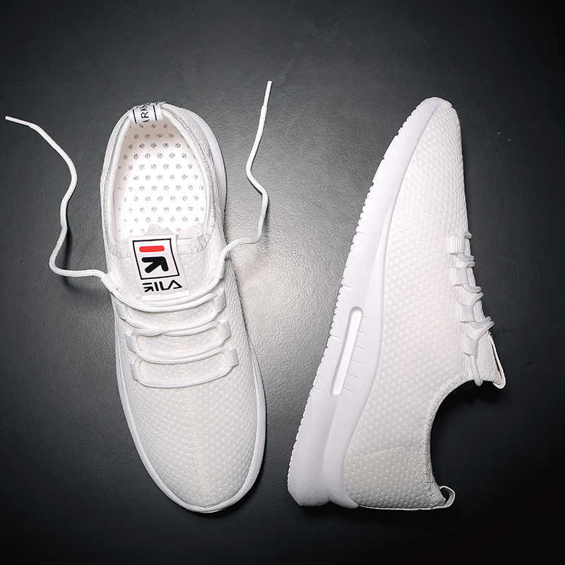 d7d72d579 ... BLOOMNEXT Ultra Light Men Sneakers White Simply Style Lace Up Low Top Sport  Shoes Cheap Walking ...