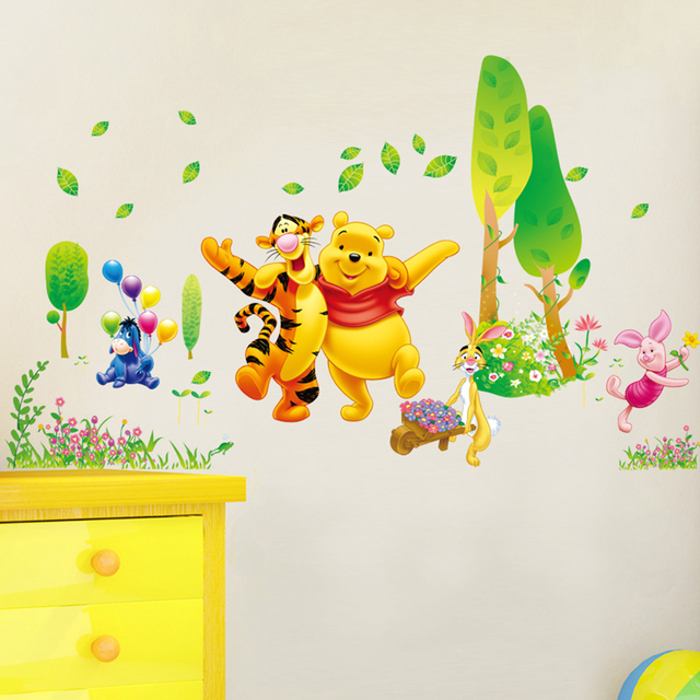 Decor Winnie The Pooh Wall Decals Kids Bedroom & Baby Nursery ...