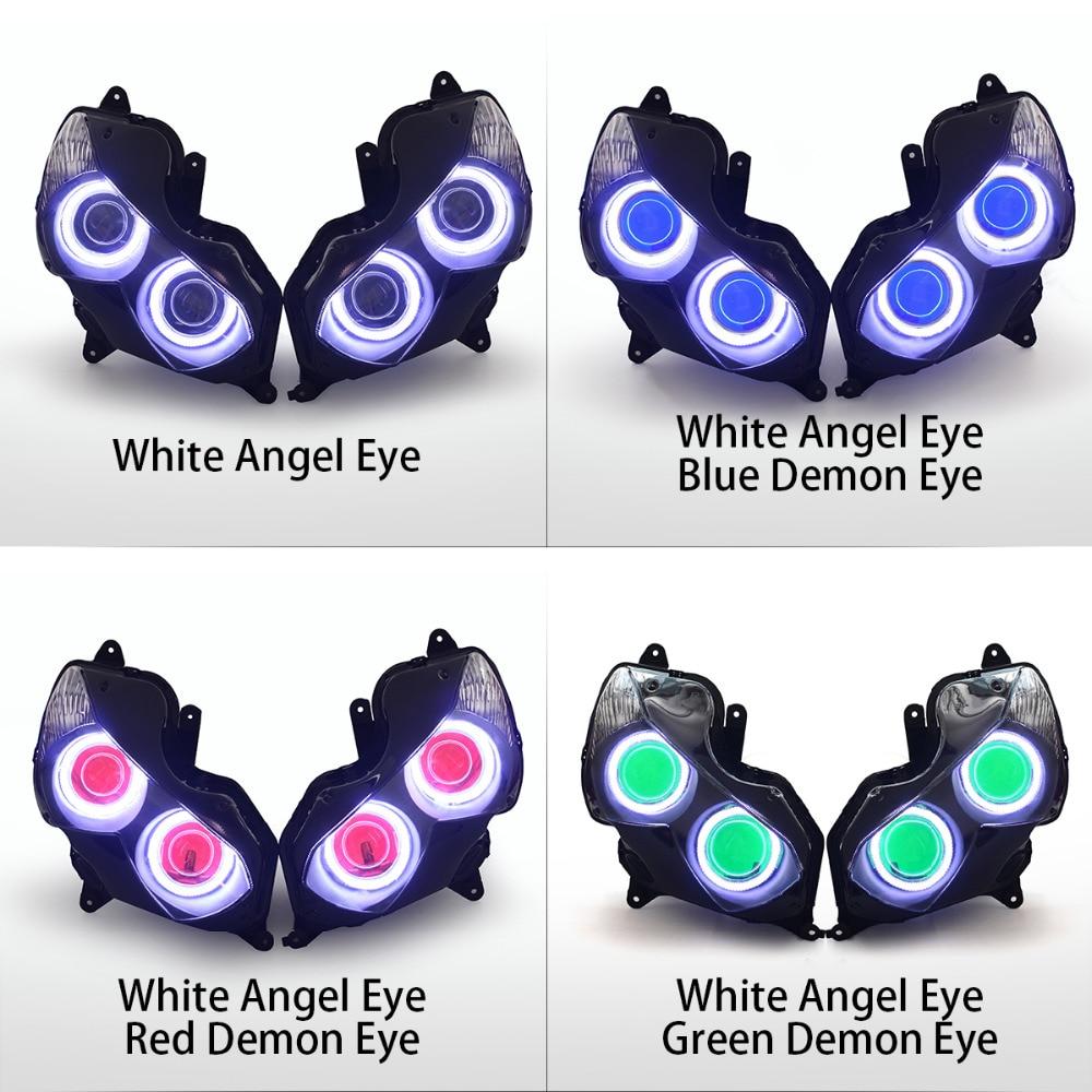 Kt Headlight For Kawasaki Ninja Zx 14r Zzr1400 Zx14r 2012 2016 Led Wiring Harness 2008 Zx14 Angel Eye Blue Demon Motorcycle Hid Projector Assembly On Alibaba