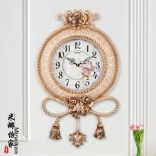 Европейский стиль, настенные часы для гостиной, Ретро стиль, качели, личность, простые, креативные, модные настенные часы, бесшумные кварцевые настенные часы