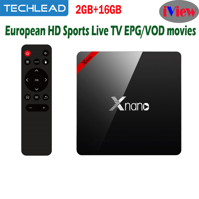 US $79 47 |X96pro Quad Core Android Set Top Box S905x include Iviewhd  Greece Arabic Albanian TV Channels list UK USA IPTV Subscription APK-in  Set-top