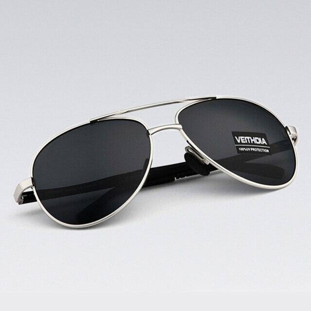 0ee5106d81c5f ביקורת אודות VEITHDIA Men s Sunglasses Brand Designer Pilot Polarized Male Sun  Glasses Eyeglasses gafas oculos de sol masculino For Men 1306