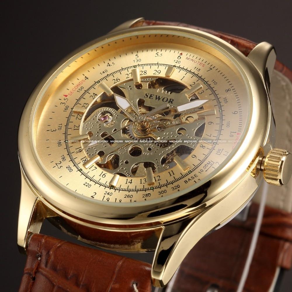aliexpress buy sewor new leather skeleton gold