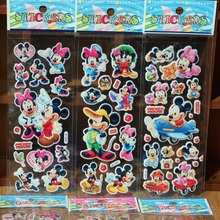10PCS/lot 3D carton bubble sticker of Mickey Minnie puffy stickers for kids birthday present, party favor