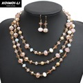 3 Layer Crystal Necklace New Fashion Imitate Crystal Bead Gold Plate Collier Necklace For Women Party Jewelry 6570