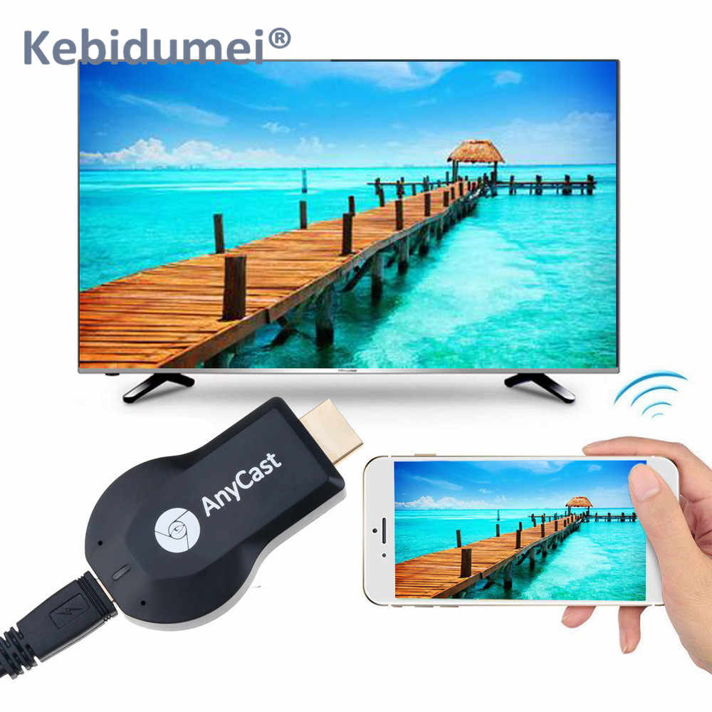 Kebidumei HDMI TV Stick AnyCast M2 Android inalámbrica Miracast pantalla WiFi TV Dongle receptor para la PC del teléfono