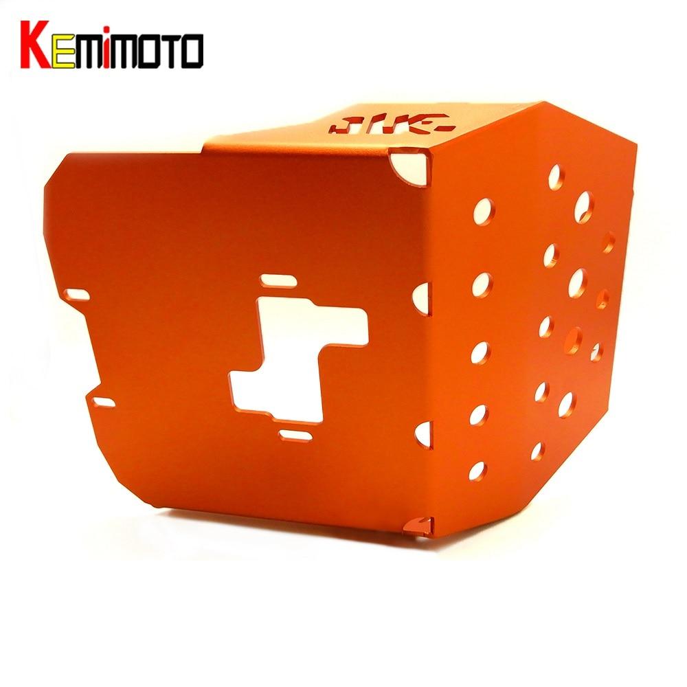 KEMiMOTO For KTM DUKE 250 2015 2016 DUKE 390 2013-2016 For KTM DUKE RC250 RC390 Motocross Skid Plate Plate Engine Protector motorcycle front rider seat leather cover for ktm 125 200 390 duke