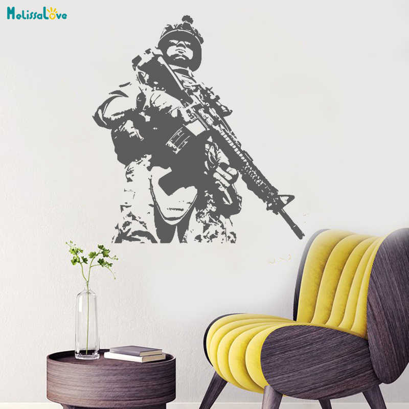 Special Forces On Duty Wall Vinyl Us Soldier Marine Army Military Home Decor Living Room For Teens Decal Art Vinyl Murals Yt1411 Wall Stickers Aliexpress