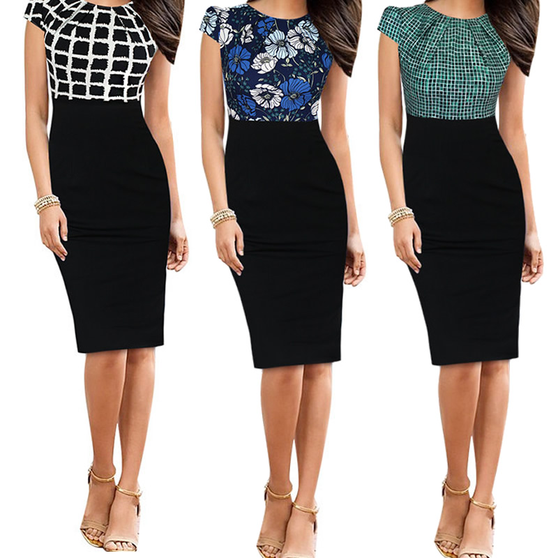Womens Elegant 3D Flower Embroidery striped Casual Party Evening Special Bodycon Dress robe longue femme ete office dress