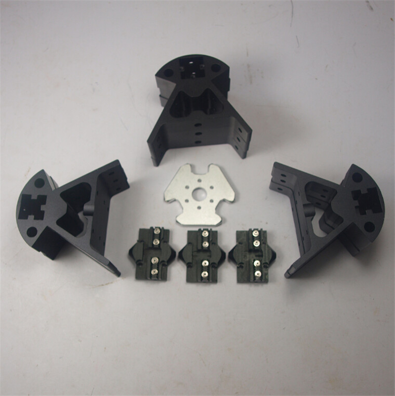 цены  A Funssor Reprap Delta Kossel all metal effector+carriage+ Bottom vertex+Top vertex+End kit for DIY 3D printer