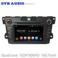 Android 5.1 Car dvd player GPS para mazda cx7 cx-7 com Quad core 1024*600 tela WIFI 3G usb bluetooth rádio auto espelho link