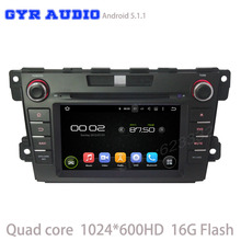 android 5.1 Car dvd GPS player for mazda cx7 cx-7 with Quad core 1024*600 screen WIFI 3G usb auto radio bluetooth mirror link