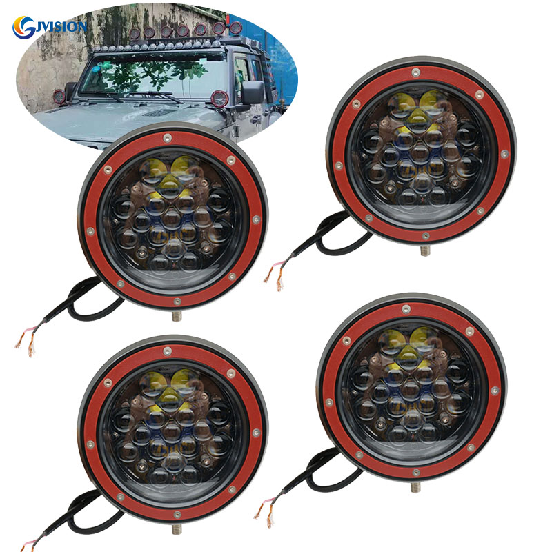 4PCS 5D LED Work light bar Flood/Spot beam led working Driving lights 12V 24V for Jeep Lada Niva 4x4 ATV SUV Truck Offroad image