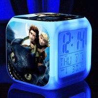 3D Cartoon Train Your Dragon Alarm Clocks Train Your Dragon Alarm Clocks For Kids Room Multifunction