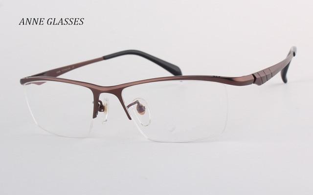 Anne gafas 100% pure titanium cómodo gafas de miopía hombres de gran ...