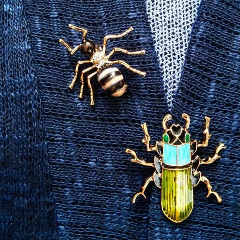 3d9bf807e6b9 Прекрасный огонь Ant брошь Для женщин и Для мужчин Hat рюкзак значок эмаль  Булавки Жук коллекции