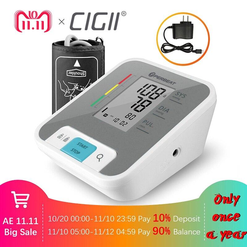 Cigii Casa di assistenza sanitaria di Impulso strumento di misura Portatile A CRISTALLI LIQUIDI digital Monitor di Pressione Sanguigna del Braccio Superiore 1 pz Tonometro
