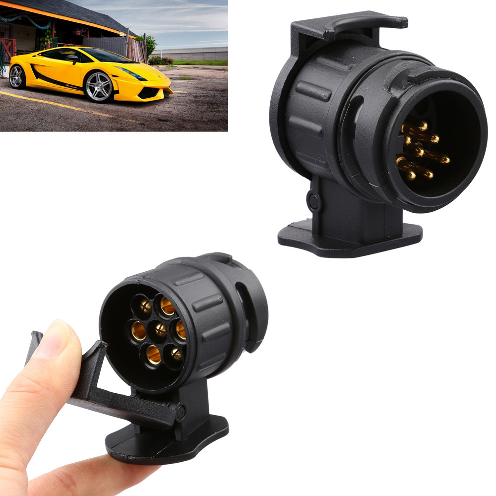 Automobiles & Motorcycles Responsible Car Trailer Truck 13 Pin To 7 Pin Plug Adapter Converter Tow Bar Socket Black Si-at06005 Sale Overall Discount 50-70% Travel & Roadway Product