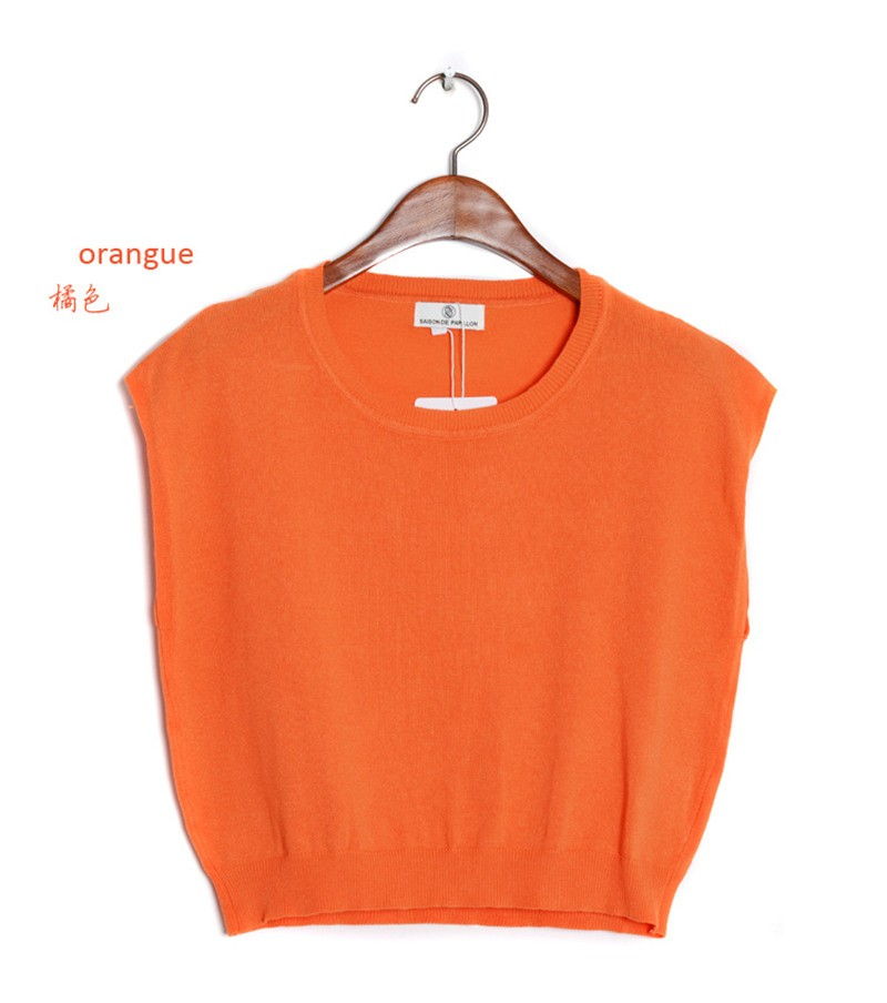 Summer 2016 Solid knitted short Pullover Sweater (14)