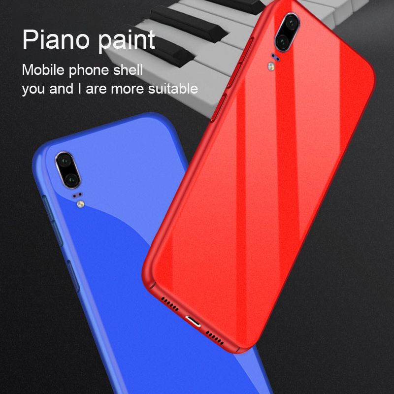 GerTong Slim Silky Touch Hard PC Case For Huawei P20 Pro Lite Mate10 Back Cover Cases For Honor V10 Full Protection Phone Shell
