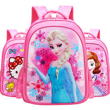 Elsa Princess Captain America Iron Man Car Girl Boy Children Nursery School bag Bagpack Schoolbags Canvas Kids Student Backpacks(China)