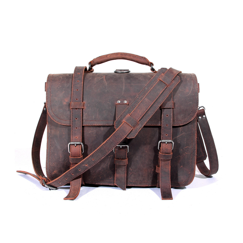 YISHEN Vintage Multifunctional Large Capacity Men Travel Bags Crazy Horse Genuine Leather Men Messenger Bags Big Handbags MS3854 yishen men oxford large capacity travel