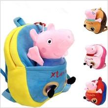 Venta caliente de la Muchacha del regalo de cumpleaños del cerdo del peppa lindo mini bolso de escuela del morral para los niños muchacho de la historieta del niño mochila de la mochila