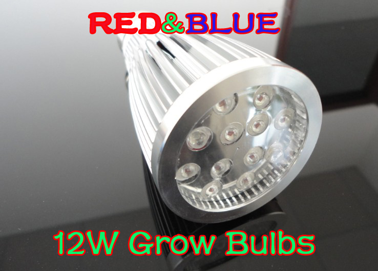 12W LED grow Bulbs 12PCS*1W led plant light LED plant grow light red blue 10:2 Potted la ...