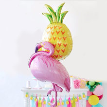 Summer Flamingo Balloons Pineapple Coconut tree Foil Balloon Birthday Decoration Kids Adult Party Beach Party Helium Air Globos(China)